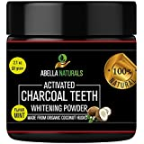 baking soda whitening - Activated Charcoal Teeth Whitening Powder: Natural Organic Coconut Whitener Polish With Baking Soda - Fluoride Free - Peppermint Flavor - 2.1 Ounces