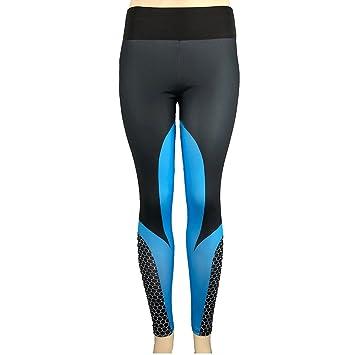 3f5b0604554a0 STRIR Mallas Deporte Mujer Leggins Pantalones Deportivos Elásticos de  Cintura Alta Mujeres de Cintura Alta Yoga Fitness Polainas Correr Gimnasio  Pantalones ...