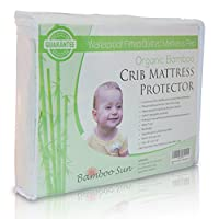 New, Improved and High Quality Organic Bamboo Crib Mattress Protector - Water...