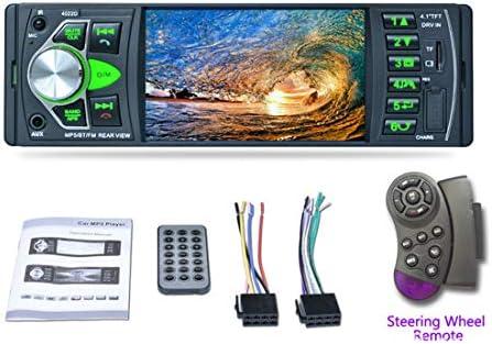 カーラジオオートオーディオステレオ4.1インチ1ディンFMブルートゥースMP5 MP4カーラジオステレオプレーヤー12vサポートUSB FM MP4 MP5 USB SD TFオートラジオ4022D