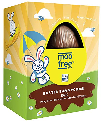 (MOO FREE Bunnycomb Easter Egg Dairy Free, 100 GR)