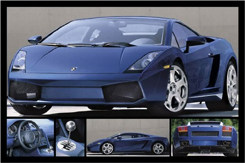Lamborghini Gallardo Blue Sports Car 5 Pics PAPER POSTER mea