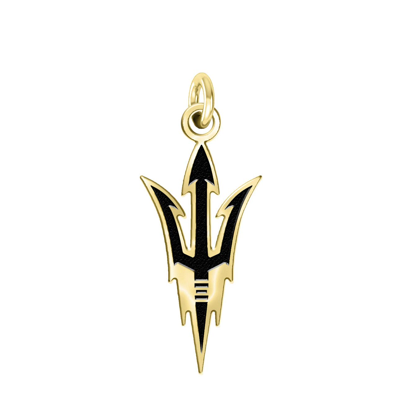 91e1ce0b7e2327 Amazon.com: Arizona State Sun Devils 14k Yellow Gold Cut Out Logo College  Charm (1/2