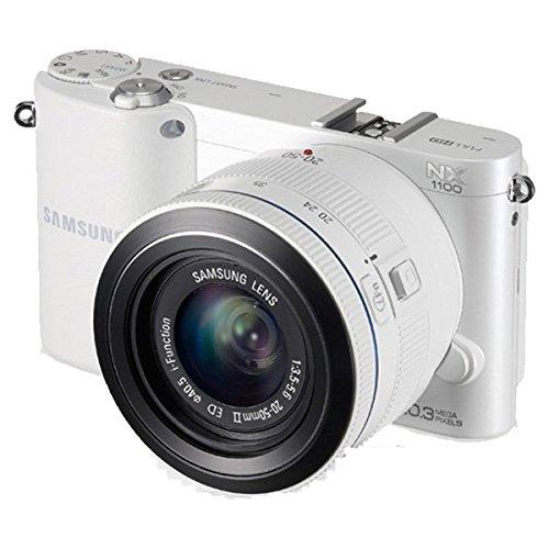 Samsung NX1100 Smart Wi-Fi Digital Camera Body & 20-50mm Lens (White) (Samsung Nx Camera)