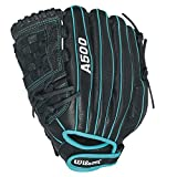 Wilson Siren Fastpitch Softball Glove 12 inch , Black/Teal