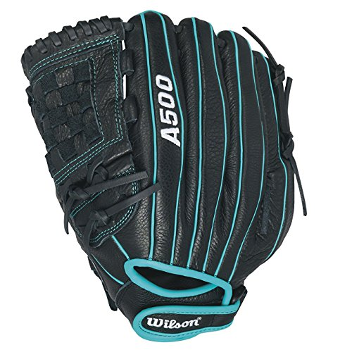 Wilson Siren Fastpitch Softball Glove 12 inch , Black/Teal by Wilson