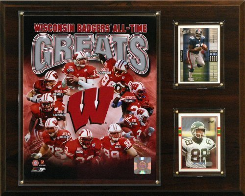 (NCAA Football Wisconsin Badgers All-Time Greats Photo Plaque by C&I Collectables)