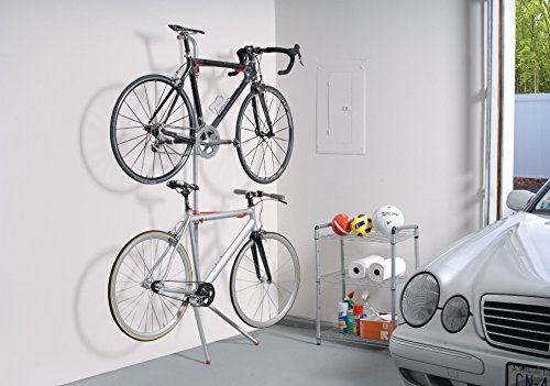 The Art of Storage 'Donatello' Leaning Two-bike Adjustable Steel Rack with 60-pount Maximum Load by Portable Organizer