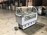 Curved Glass 14-pan Gelato Dipping Cabinet - F14