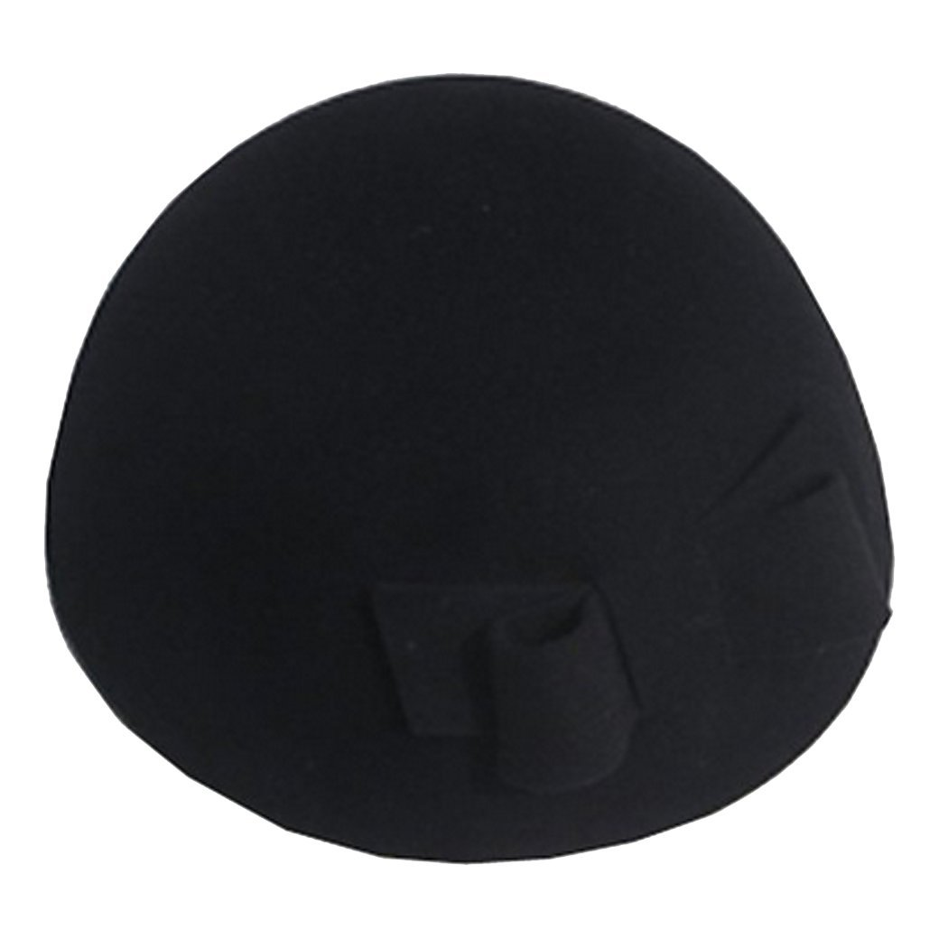 Zoylink Womens Beret Hat Bridal Wedding Elegant Bowknot Pillbox Hats for Wedding Carnival Party (Black)