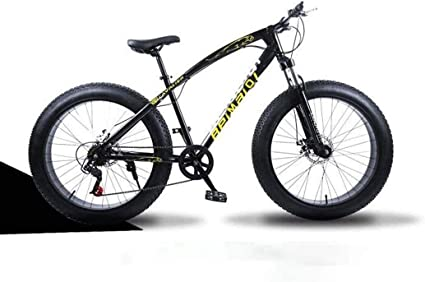 Todo Terreno montaña de la bicicleta, 26 pulgadas Fat Tire bicicletas de montaña suspensión delantera, de doble bastidor de suspensión y la suspensión Tenedor, Hombres y mujeres adultos,: Amazon.es: Coche y moto