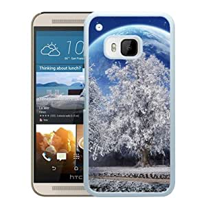 Beautiful And Unique Designed With Trees Hoarfrost Planet Earth Sky Stars Park (2) For HTC ONE M9 Phone Case