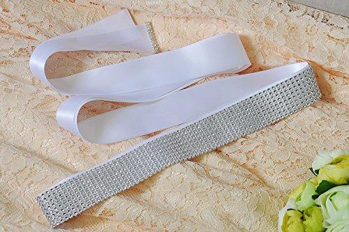 Per Fusciacche Delle Nuziale Ghigliottina Azalee Rhionstone Cintura Grigio Cinghie Cerimonia Scuro Sposa Donne La Matrimonio TqrTwz