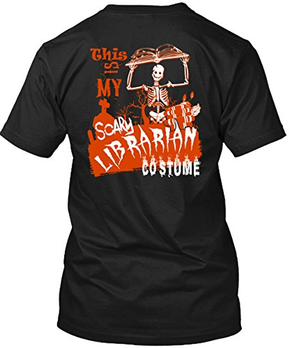 Tee Bon This Is My Scary Librarian Costume T Shirt, Being A Reader T Shirt Unisex (XL,Black)