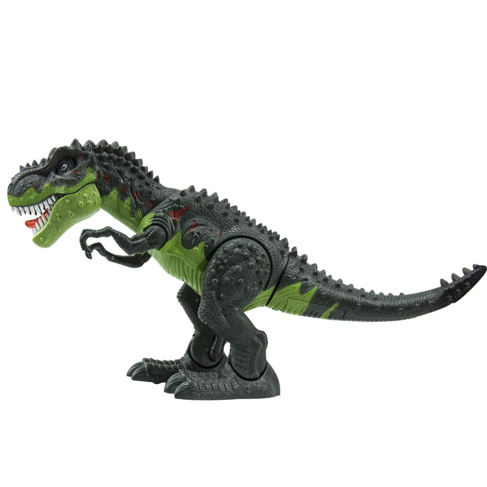 WonderPlay Walking Dinosaur T-Rex Toy Figure with Lights and Sounds Realistic Tyrannosaurus Dinosaur Toys for Kids Battery Operated Green by WonderPlay (Image #7)