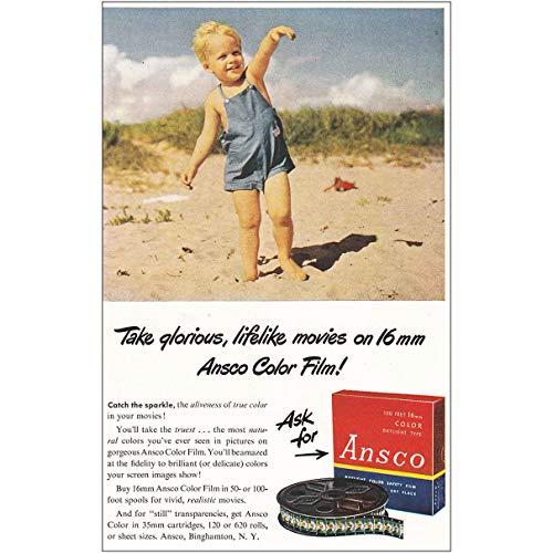 Ansco Color Film (RelicPaper 1947 Ansco Color Film: Glorious, Lifelike Movies, Ansco Print Ad)