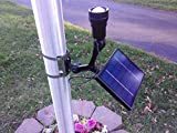 PolePalUSA Commercial Solar Flagpole Light CREE Fixed Head