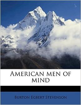 Book American men of mind