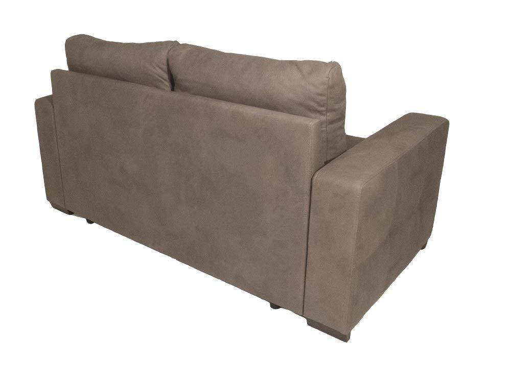 LxPxA Alfa Sofa Divano Due posti con Estraibile e sedute morbide Budapest 160x83x88cm Tessuto 02 - Colore 4