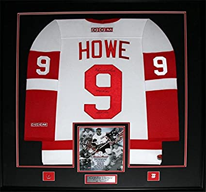 db64b936cdc Image Unavailable. Image not available for. Color  Midway Memorabilia  Gordie Howe Detroit Red Wings Signed White Jersey Frame
