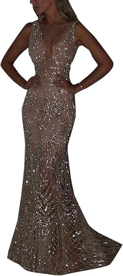 Laozana Damen Kleid Festliche Kleider Brautjungfer Hochzeit Cocktailkleid Elegant Langes Abendkleid Amazon De Bekleidung