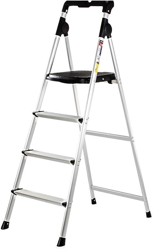 Escalera Plegable multifunción de Interior pequeña de Aluminio de 4 escalones for Loft Interior y Exterior Liuyu.: Amazon.es: Hogar