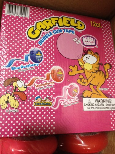 Garfield Candy - Garfield Bubble Gum Tape 12 count