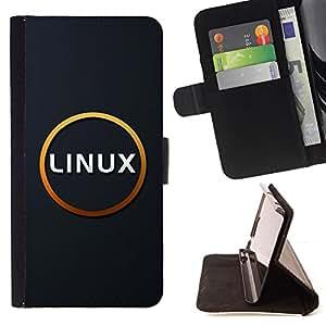 BullDog Case - FOR/HTC Desire 820 / - / Linux /- Monedero de cuero de la PU Llevar cubierta de la caja con el ID Credit Card Slots Flip funda de cuer