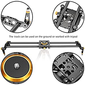 Neewer 47.2 inches/120 centimeters Carbon Fiber Camera Track Slider Video Stabilizer Rail with 6 Bearings for DSLR Camera DV Video Camcorder Film Photography, Load up to 17.5 pounds/8 kilograms