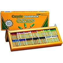 Crayola Oil Pastels Classpack, 12 Brilliant Opaque Colors (336 Count) Large Hexagonal Shape Pastels, Ideal for Kids 3 & Up, Non-Toxic, Blendable, Strong, Long Lasting Sticks, Bulk Value Classroom Pack