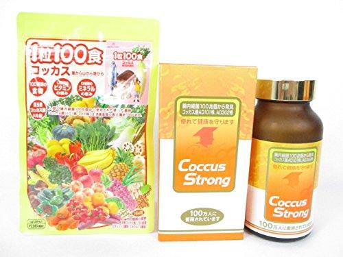 コッカスストロング 360粒入/瓶+「1粒100食コッカス」1袋付セット B01N8Y9O0I