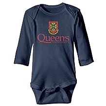 Kids Baby Queen's University Romper Jumpsuit Navy