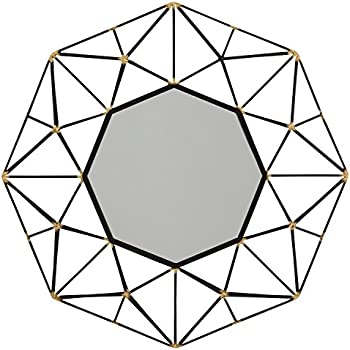 amazon stone beam vintage look octagonal mirror 25 5 h Wide Flange Beam H rivet modern octagonal metalwork mirror 28 h black finish