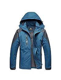 WHENOW Men's Winter Jacket Ski Snow Climbing Hiking Warm Coat Outdoor Sports Jacket
