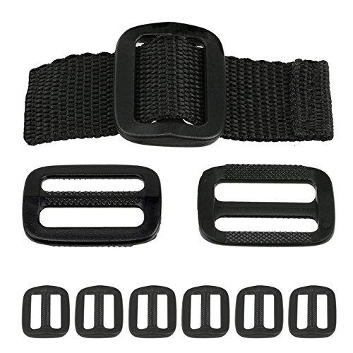 Heavy-Duty Plastic Slip Tri-Glides - Black - Set of 6 - 1-1/2-inches