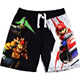 Nintendo Mario Boys Black Swim Trunks Swimwear SM3L0003