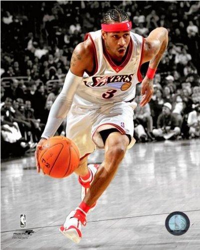 (Allen Iverson Philadelphia 76ers NBA Spotlight Action Photo (Size: 8