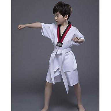 Ropa de Taekwondo para niños Algodón Adulto Ropa Gi Trajes de ...