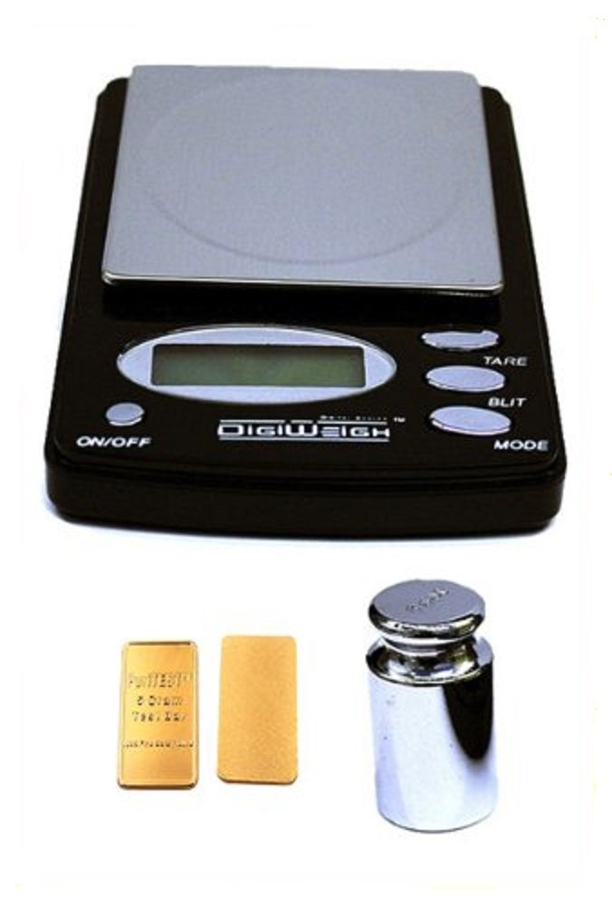 Gold Bar Silver Coin Jewelry Digital Display Gram Weigh Scale Electronic Tester, United States Flag Patch by DigiWeigh
