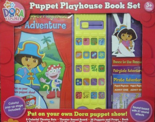 Nick Jr. Dora the Explorer: Puppet Playhouse Book Set by Nickelodeon