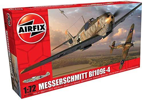 Airfix A01008A Model Plane Plastic Messerschmitt Bf109E-4 1:72 Scale ()