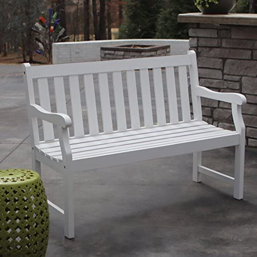 D cor Therapy FR8578 Outdoor Bench, White