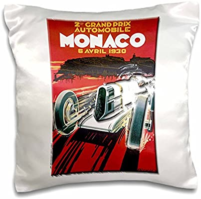16 x 16 3D Rose pc/_130192/_1 Monaco Grand Prix Advertising Poster Pillow Case