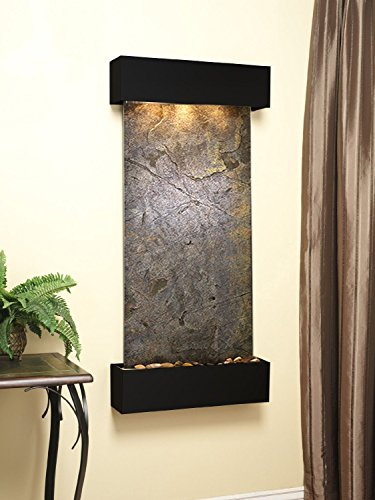 Adagio Cascade Springs Fountain w/Green Featherstone in Blackened Copper Finish