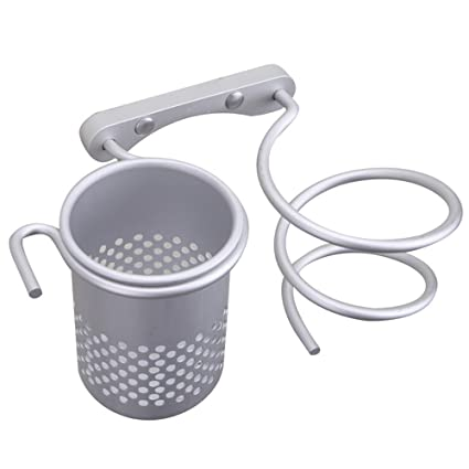 esoons aluminio multifuncional organizador de baño colección de almacenamiento Rack/espiral secador de pelo titular