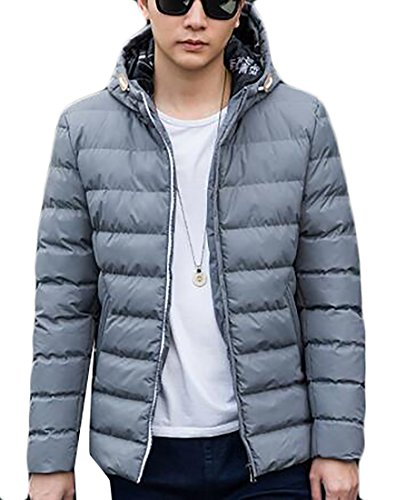 Padded Mens Windproof today Grey Down Puffer Lightweight Hooded UK Jacket YFw5qH