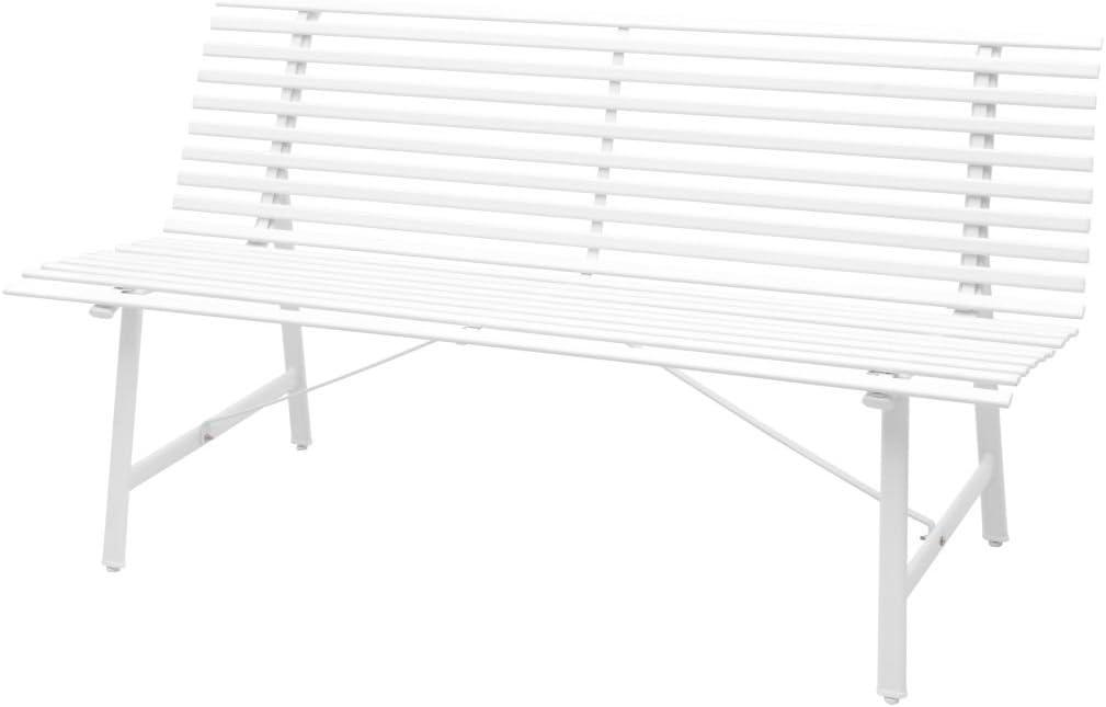 vidaXL Banco Jardín 150x62x80 cm Blanco Silla Asiento Mueble Mobiliario Patio