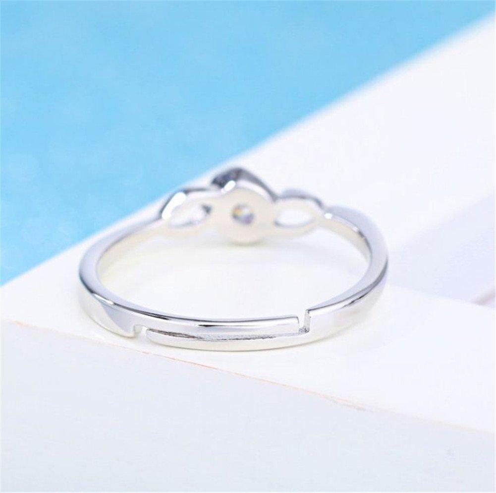 anillos serie regalo de San Valent/ín//el d/ía de la Madre//Cumplea/ños Plata Color lumanuby 1/x Mode transparente krystall Anillo abierto versilberung anillos Twist para ni/ña//mujer