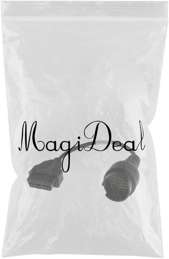 MagiDeal Scanner Diagnostic de Voiture Adaptateur 38 /à 16 Pin OBD2 C/âble Noir pour Iveco