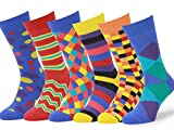 Easton Marlowe Mens - 6 PACK - Colorful Patterned Dress socks - 6pk #4, mixed - bright colors, 43-46 EU shoe size